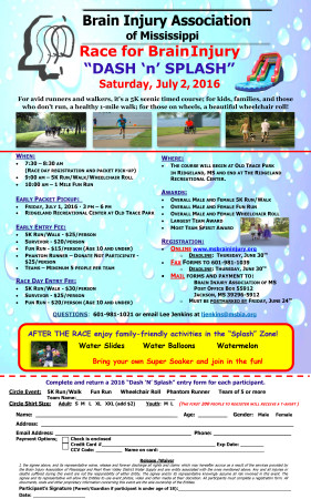 2016 Race for Brain Injury Flyer - CW